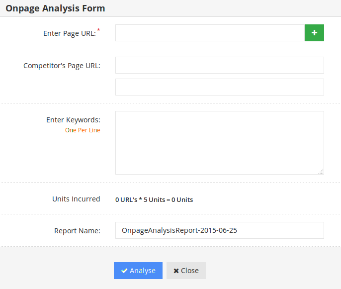 On-page-analyzer-form
