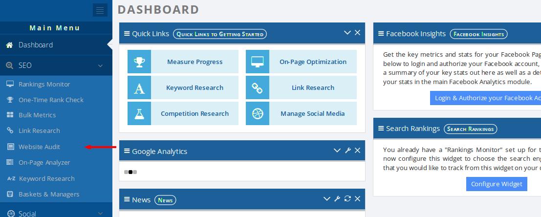website-audit-dashboard