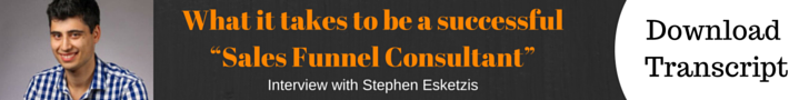 "What it takes to be a successful""Sales Funnel Consultant"" - Transcript Download"
