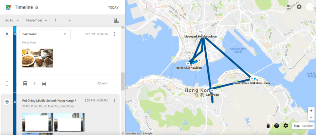 Google Timeline Is Recording Your Every Move. Is It a Good ... on google map harrisburg, google map liberia, google map denmark, google map antigua and barbuda, google earth hong kong, google map laramie, google map montserrat, google dictionary hong kong, google map ho chi minh city, google map kowloon tong, google map pitcairn islands, google map windhoek, google map northern mariana islands, google map kota bharu, google map northern hemisphere, google map anhui, google map cleveland, google map staten island, google map baku, google map middle east countries,