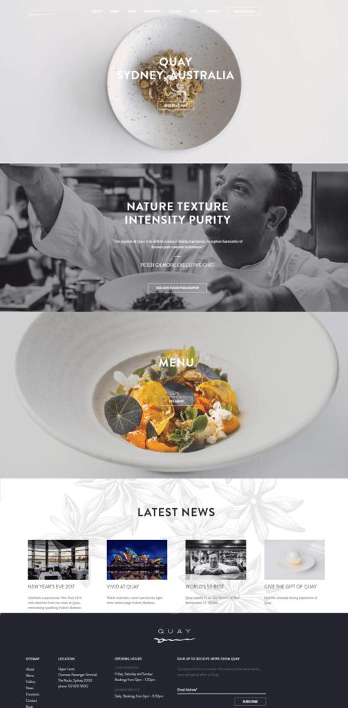 quay - fine dining - restaurant marketing