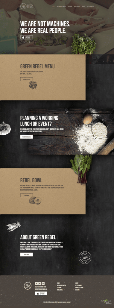 green label - fine dining - restaurant marketing