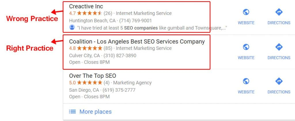 Limiting Name - Local SEO Tactics