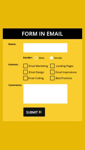 Integrated Forms in Emails